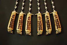 """Набор шампуров с лазерной гравировкой """"Вепри"""" (6шт, 2мм) в колчане (наличие уточняйте)"""