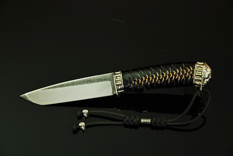 """Нож для охоты ручной работы """"Ghost rider11"""", N690"""