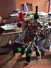 """Набор шампуров из рога буйвола """"Пламя дракона"""" (6шт,3мм) в кожаном колчане (наличие уточняйте), фото 3"""