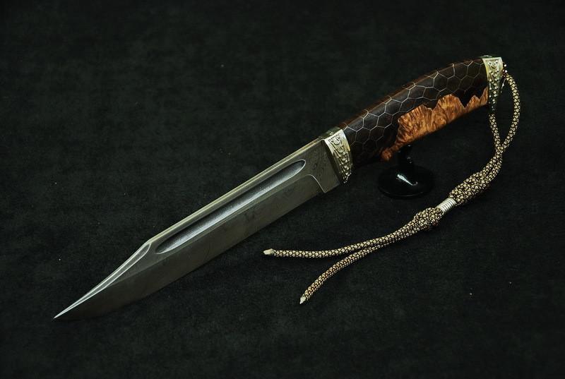 """Авторский нож ручной работы для охоты """"Крепыш3"""", дамасск, (наличие уточняйте)"""