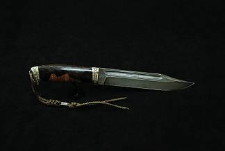 """Авторский нож ручной работы для охоты """"Крепыш3"""", дамасск, (наличие уточняйте), фото 2"""