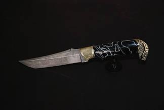 """Охотничий нож ручного изготовления """"Мамба4"""", дамасск, фото 2"""