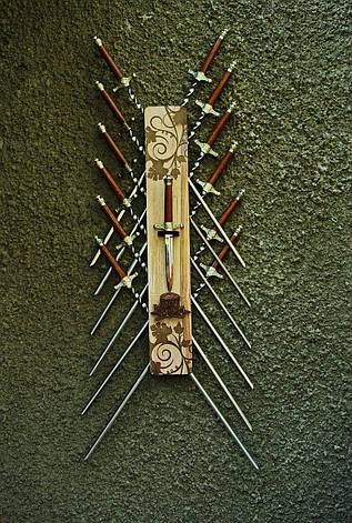 """Настенный декор-чехол для шампуров и ножа №5 (аксессуар для шампуров только из папки """"эксклюзив""""), фото 2"""