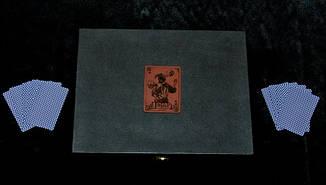 """Ножовий набір """"Козирний"""" - комплект складається з ножа, карт, фляги в кейсі, фото 2"""
