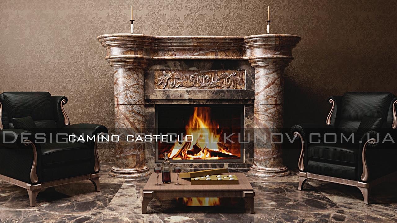 Мраморный портал камина CASTELLO