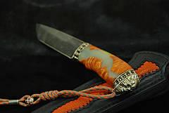 """Авторский нож ручной работы """"Ghost rider13"""", дамасск, фото 3"""