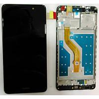 Дисплей для Huawei Y7 2017 (TRT-L21)/Y7 Prime/Enjoy 7 Plus/Nova Lite Plus с тачскрином и рамкой черный Ориг