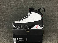 "Кроссовки Nike Air Jordan 9 ""White/Black-Red"" реплика"