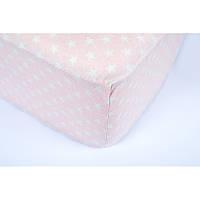Простынь на резинке Tac Flanel - Bella розовый 100*200