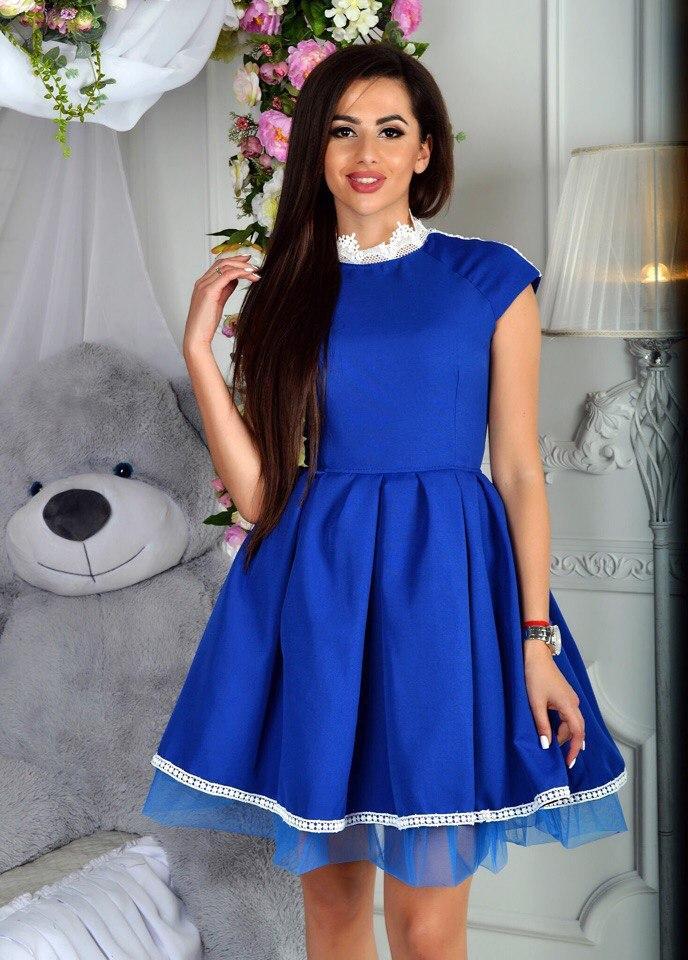 93c064e39d3 Платье выпускное вечернее короткое пушистая юбка декор кружево размер 42