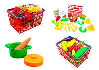 Детская корзина с продуктами, игрушечные продукты и товары, супермаркет
