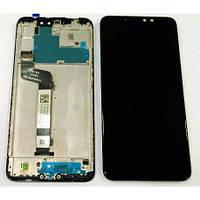 Дисплей Xiaomi Redmi Note 6 Pro с тачскрином и рамкой черный Оригинал