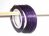 Декор лента на липкой основе фиолет