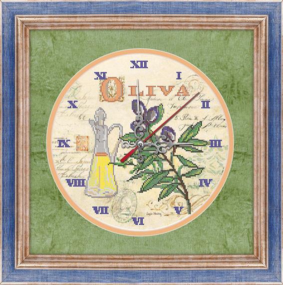 """Схема вышивки бисером """"Часы """"Олива"""""""