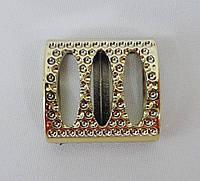 Элемент декора для одежды пластик золото 70-0023
