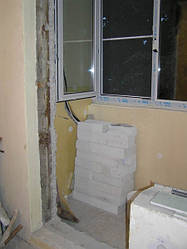 Демонтаж балконного порожка