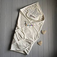 "Полотенце-уголок с капюшоном и варежкой Babyline ""Prince"", фото 1"