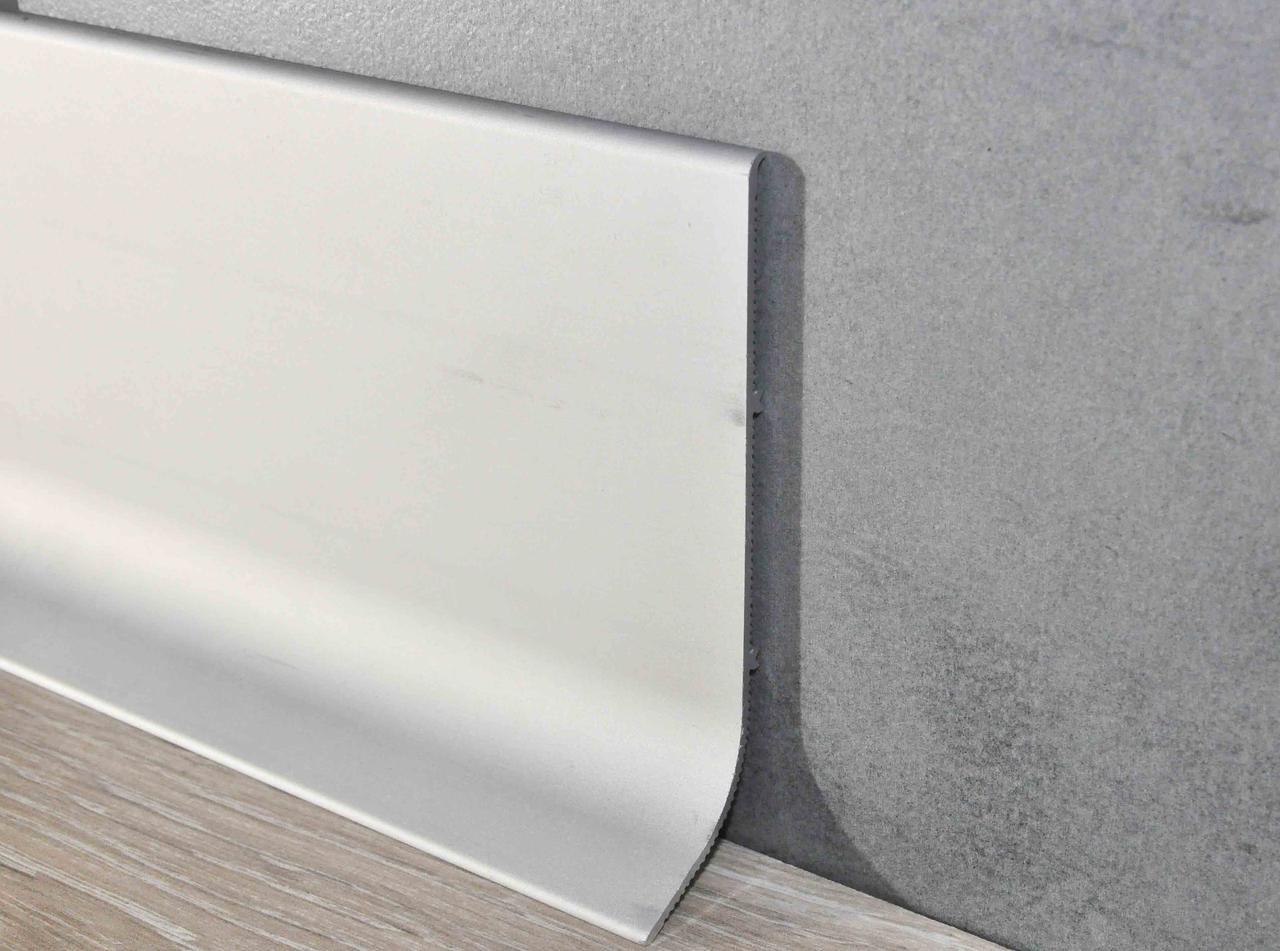 Плинтус алюминиевый накладной 100х3000 мм анодированный