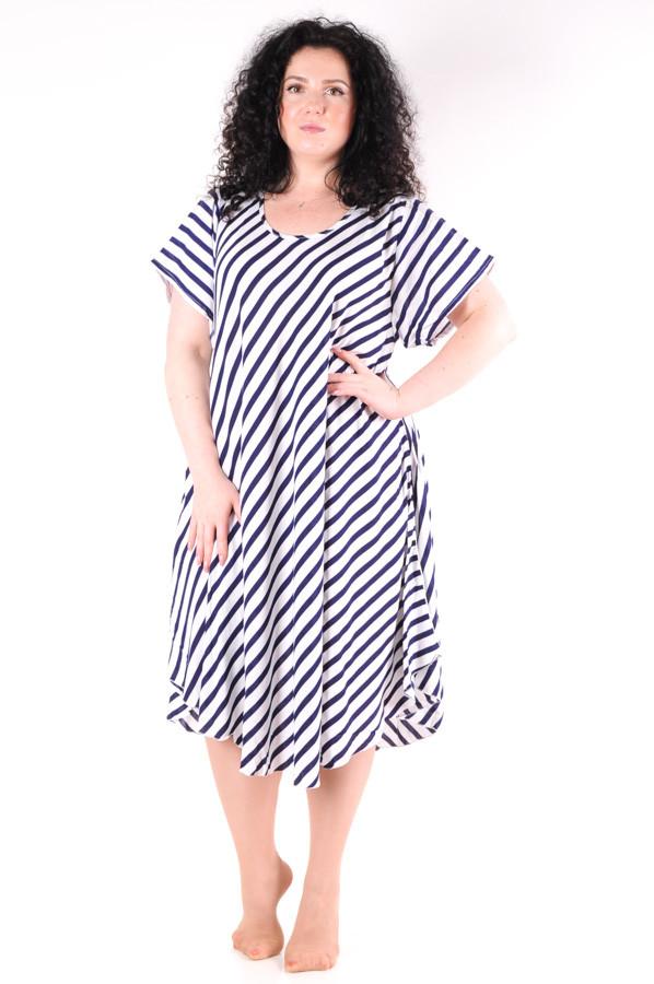 Летнее платье в полоску 1236-3