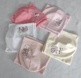 Шапка трикотажная и баф для девочек м 5519, Vivatricko  3-8 лет, разные цвета, фото 2