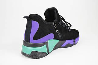 Кроссовки женские замшевые разноцветные Lonza 35082, фото 2