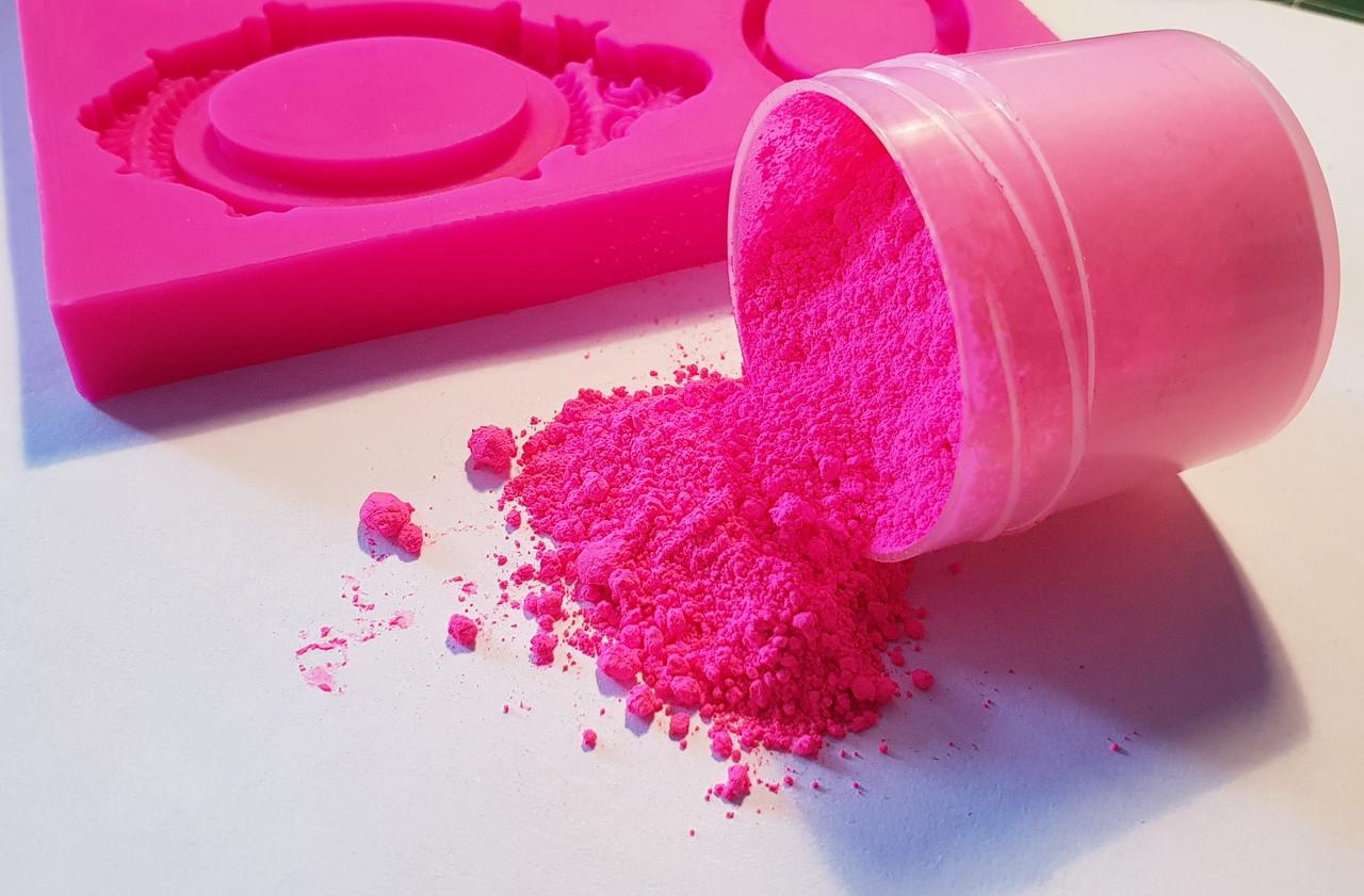 Пигмент флуоресцентный для силикона розовый, яркий, мелкодисперсный