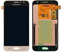 Дисплей (LCD) Samsung J120H Galaxy J1 (2016) TFT с тачскрином золотистый (подсветка Оригинал)