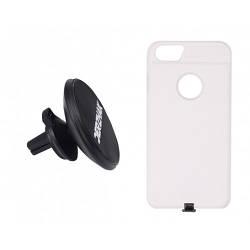 Автодержатель беспроводная зарядка DERZHAK V1+ чехол адаптер к iPhone 6/6s/7 Белый