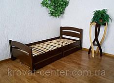 """Односпальне ліжко з ящиками з масиву дерева """"Березня"""" від виробника"""