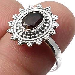 Раухтопаз дымчатый кварц, серебро 925, кольцо, 1520КЦР