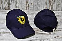 Новые Мужские Брендовые Кепки Ferrari VIP-Качества 100% Cotton Кепка Феррари Темно-Синяя Кепка