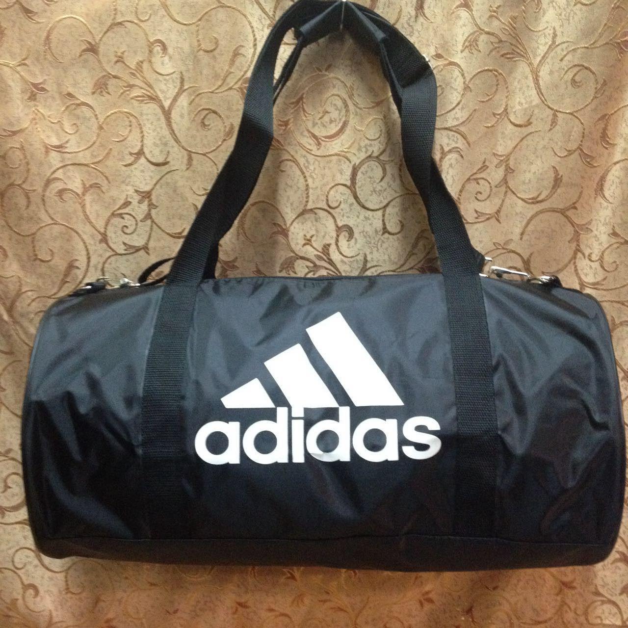 f0da6f45a7af Спортивная сумка-цилиндр Adidas, Адидас черная с белым: продажа ...