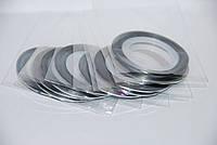 Декор лента на липкой основе серебро