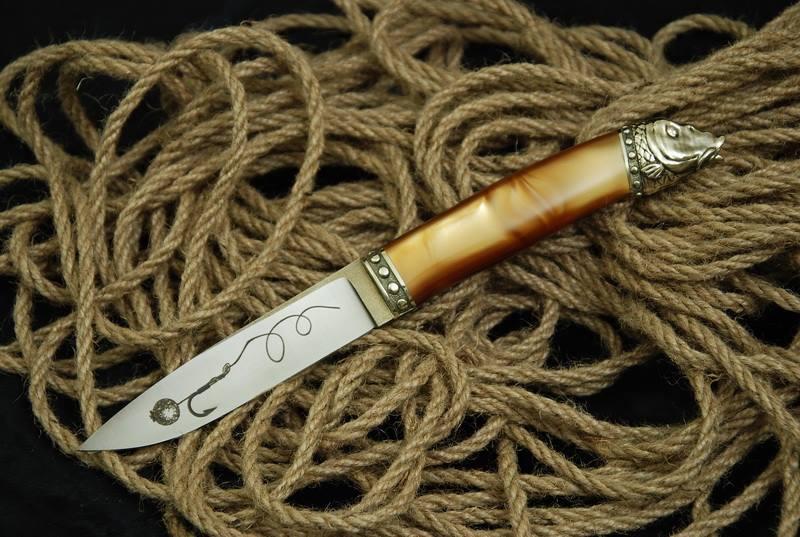 """Охотничий нож ручной работы """"Carp fish-2"""", N690"""