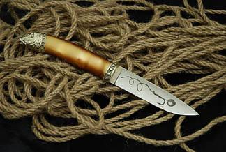 """Охотничий нож ручной работы """"Carp fish-2"""", N690, фото 2"""