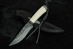 """Авторский нож ручной работы для охоты """"Каменный4"""", дамасск (наличие уточняйте)"""