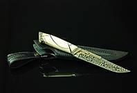"""Эксклюзивный коллекционный нож из мозаичного дамаска с бивнем мамонта """"Author's"""", изысканный подарок мужчине"""