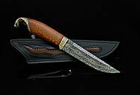 """Дизайнерский нож ручной работы """"Кобра"""", мозаичный дамаск (подарок врачу, руководителю, политику, бизнесмену)"""