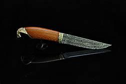 """Дизайнерський ніж ручної роботи """"Кобра"""", мозаїчний дамаск (подарунок лікаря, керівника, політику, бізнесмену), фото 3"""