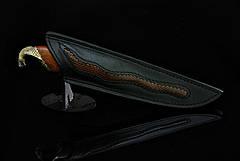 """Дизайнерський ніж ручної роботи """"Кобра"""", мозаїчний дамаск (подарунок лікаря, керівника, політику, бізнесмену), фото 2"""