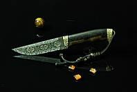 """Эксклюзивный нож ручной работы работы украинских мастеров """"Зевс-2"""", мозаичный дамаск"""