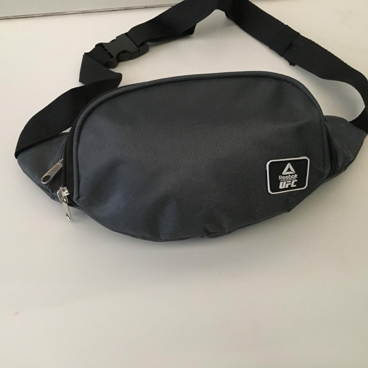8e9a778e85a5 Молодёжная сумка бананка на пояс или через плечо удобная Reebok -UFC ( 3  отделения)
