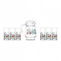 ✅ Набор для воды Luminarc Rose Pompon N3675 (6ст-270мл, кувшин -1,6л)