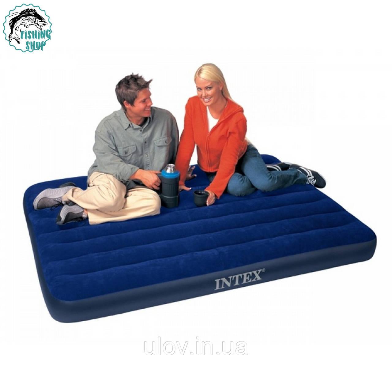 Матрас двуспальный надувной Intex 68758 (193х137х22 см)
