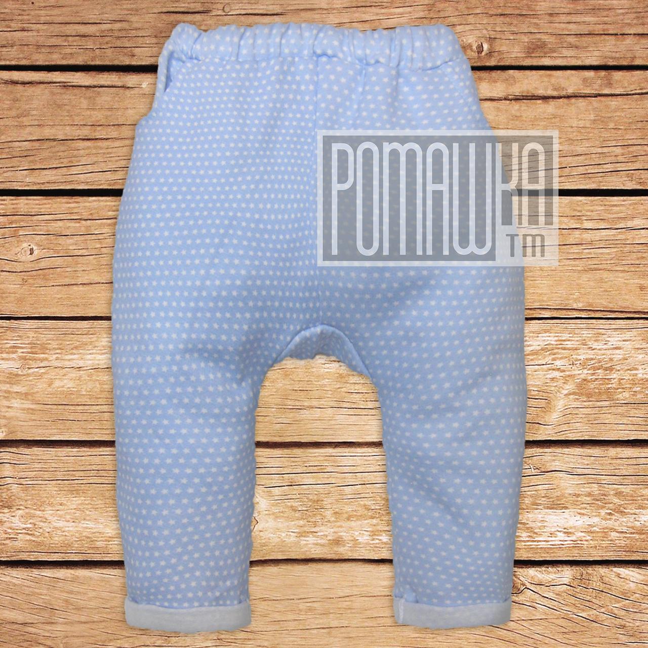 Дитячі спортивні теплі штани р 92 12-18 міс штанці для хлопчика з начосом тканина ФУТЕР 4615Голубой