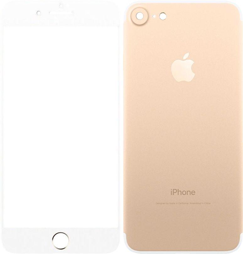 Защитное стекло TOTO 2.5D Tempered Glass Front and Back iPhone 7 Gold (FaB)