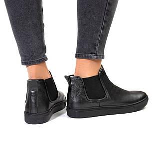 Ботинки из натуральной кожи женские 39 размер Woman's heel серые на низкой подошве повседневные