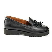 Туфли с кисточкой на низком ходу черный (О-809), фото 1