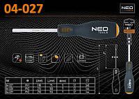 Отвертка крестовая ударная PH1 х 180мм., NEO 04-027