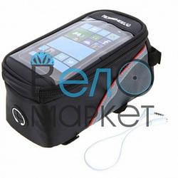Сумка нарамная  Roswheel для смартфона с выходом для наушников + отдел для инструментов